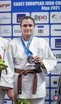 Александра Рябченко - бронзовый призёр Первенства Европы по дзюдо среди кадетов!