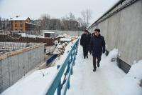 Алексей Никитенко осмотрел ход строительства Дворца спорта