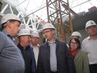 Владислав Шапша поручил ускорить темпы строительства Дворца спорта в Калуге