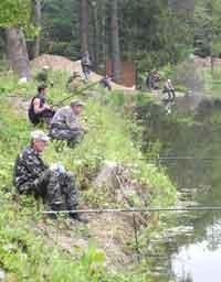 Соревновались рыболовы