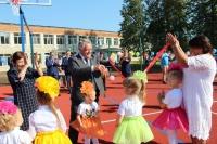 В День знаний в одной из школ Мосальского района Калужской области открыли новую спортивную площадку